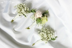 First communion - flower boutonniere for a boy